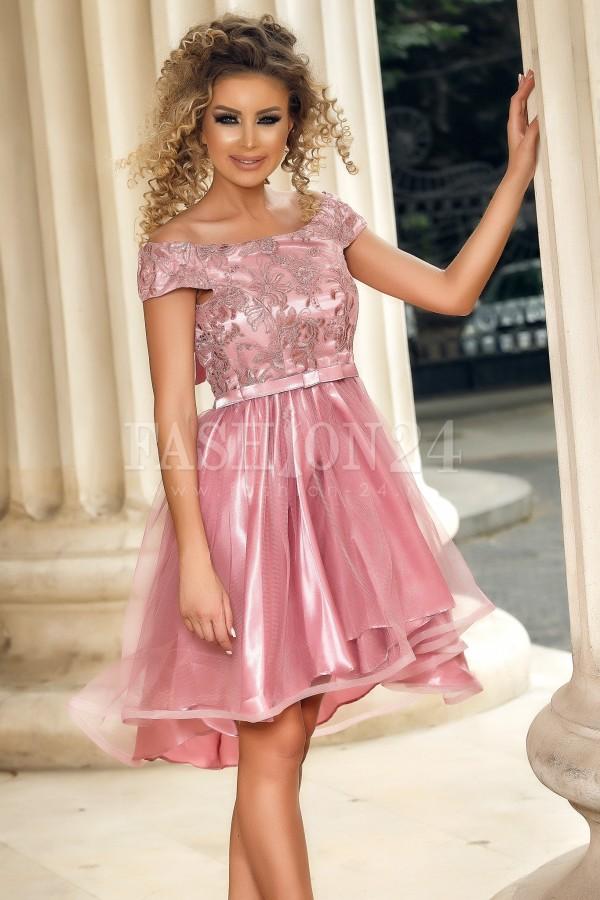 Rochie de seara rose cu trena