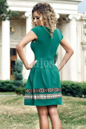 Rochie Adele verde inchis in clos