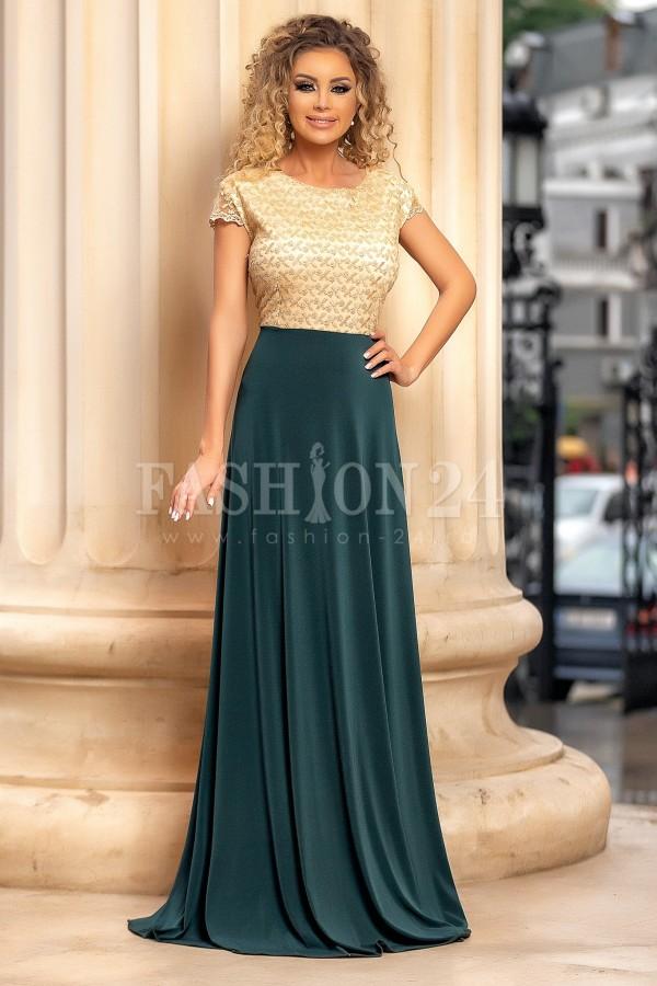 Rochie de seara verde lunga