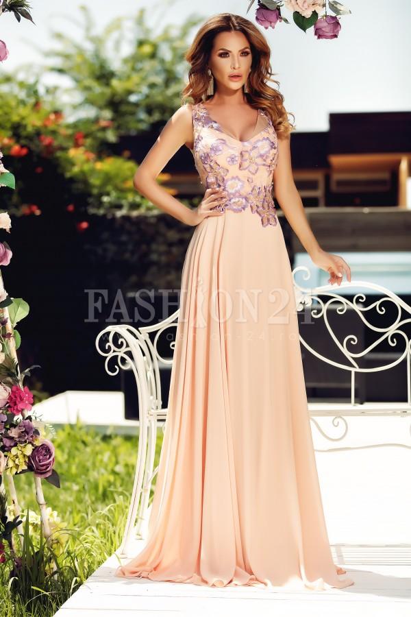 Rochie de seara lunga roze Natasha