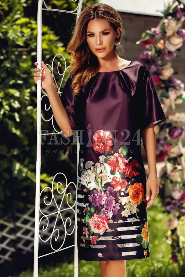 Rochie Eliss cu flori imprimate
