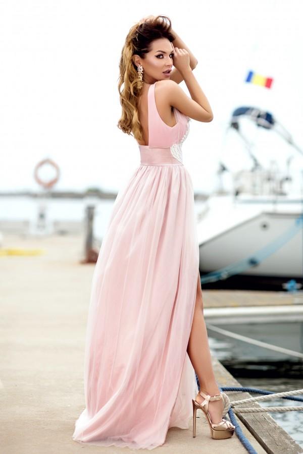 Rochie Vanda roz de seara