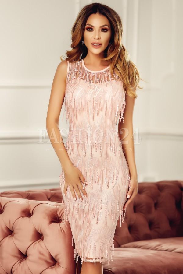 Rochie eleganta de seara roz