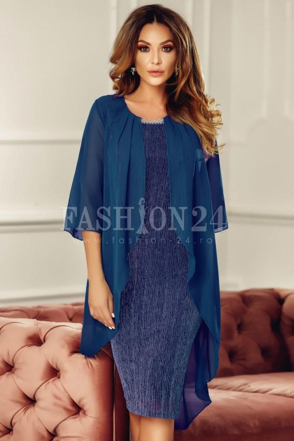 Rochie de seara eleganta bleumarin