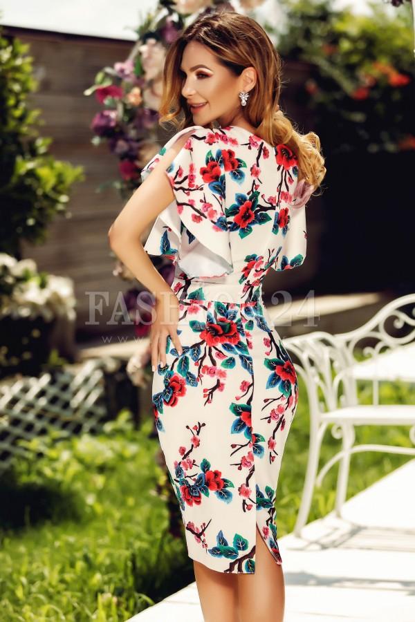 Rochie Amanda cu imprimeuri florale
