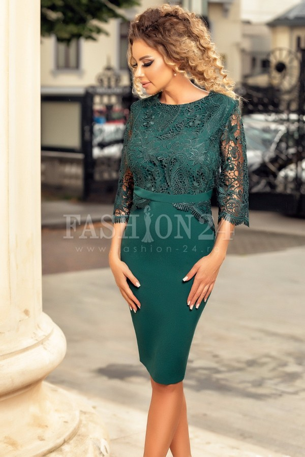 Rochie de seara verde Eliss