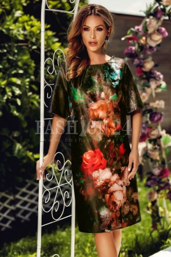 Rochie Fiona cu imprimeuri florale
