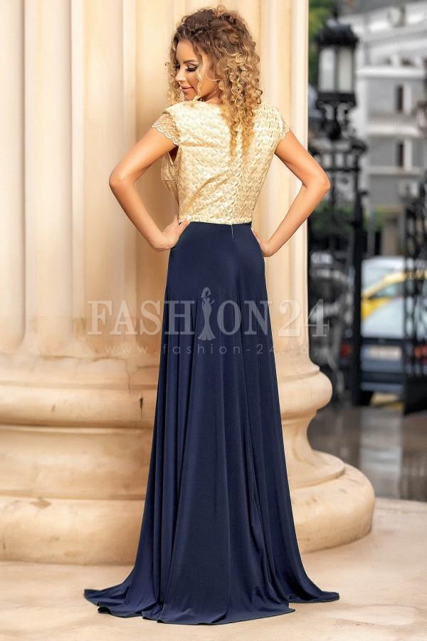 Rochie de seara bleumarin lunga