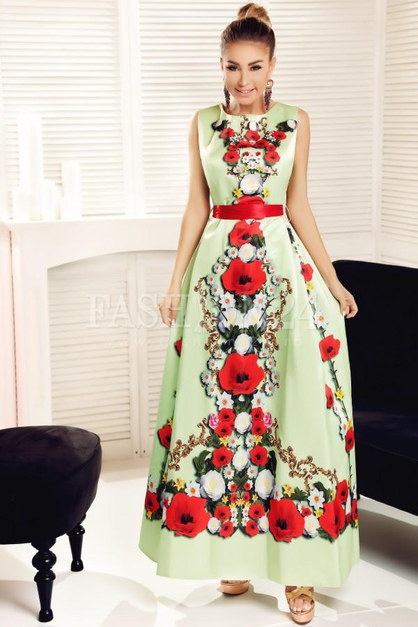 Rochie lunga Alice verde