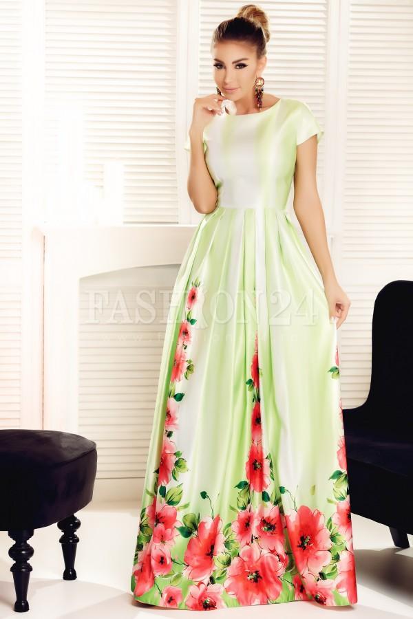 Rochie lunga Heidi verde