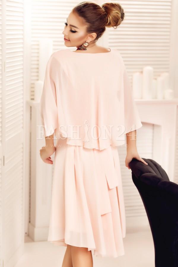 Rochie eleganta Liana roz pudra