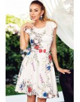 Rochie de vara eleganta cu imprimeuri florale albastre