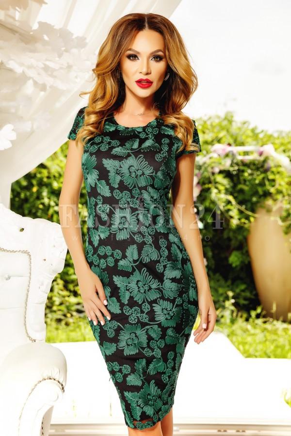 Rochie midi Romina verde