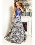 Rochie lunga Natalie albastru