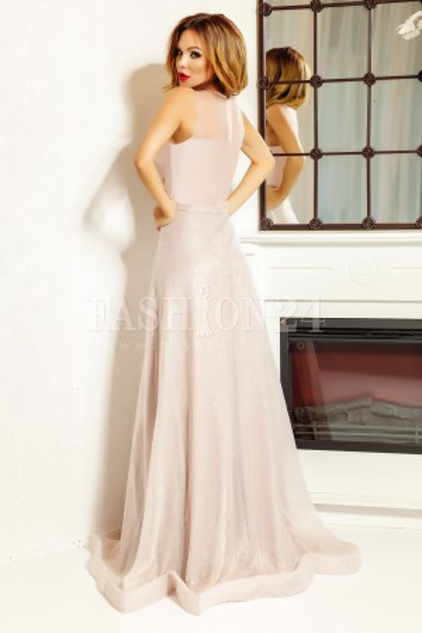 Rochie lunga Isabel roz