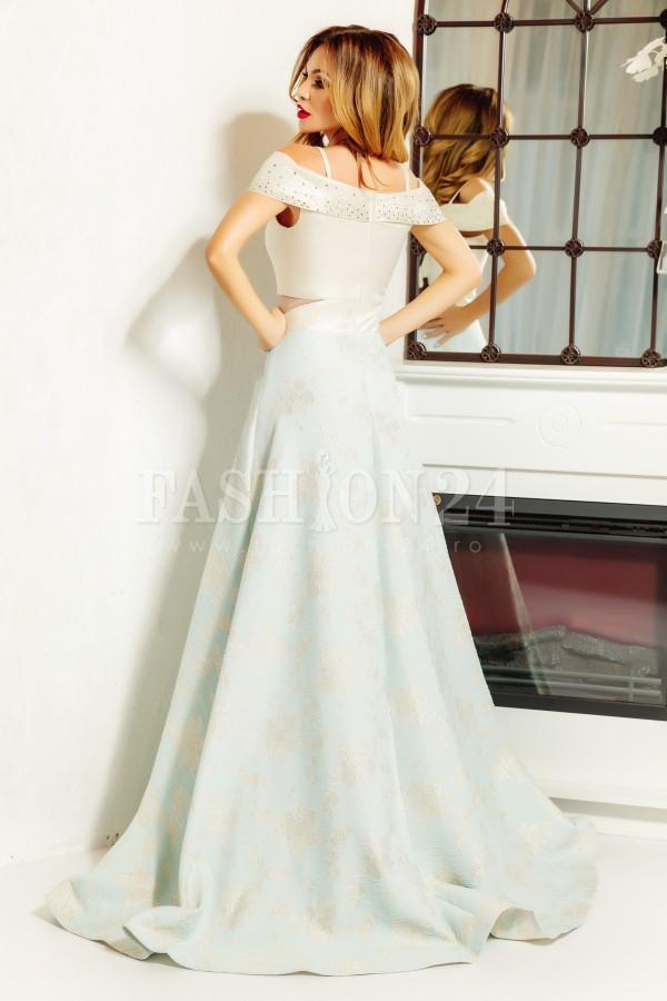 Rochie lunga Alexis bleu