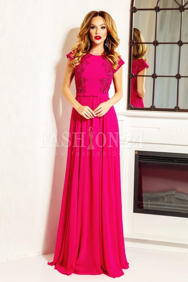 Rochie lunga Sara roz