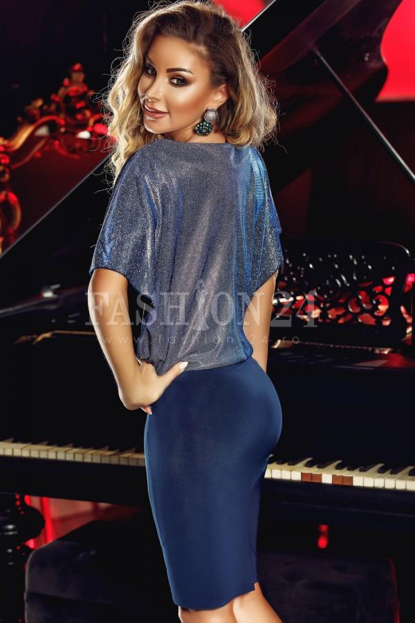 Rochie midi Julia bleumarin
