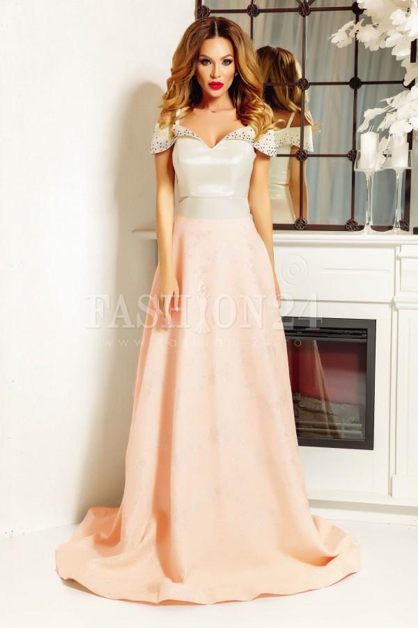 Rochie lunga Alexis roz