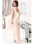 Rochie roz eleganta cu trena