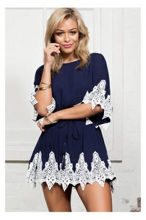 Rochie Blue&White