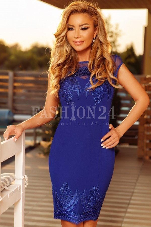 Rochie midi Evie albastra