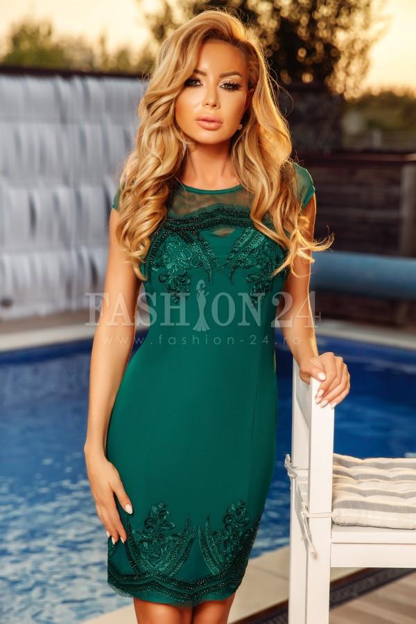 Rochie midi Evie verde