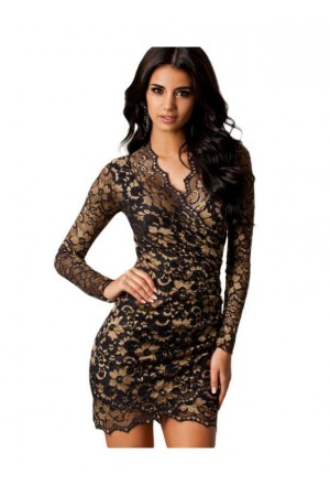 Rochie Gold Scalloped