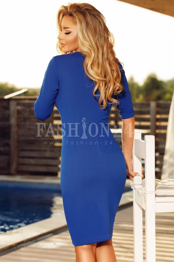 Rochie eleganta Jolie albastra