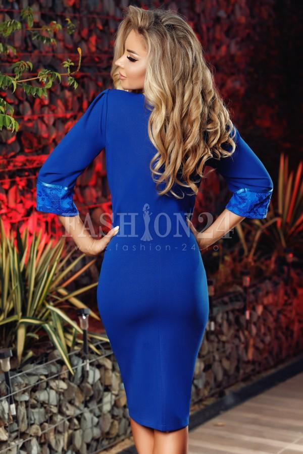 Rochie midi Alice albastru electric