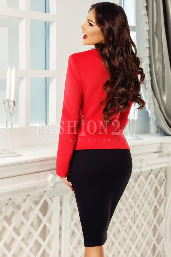 Compleu elegant Evie rosu negru