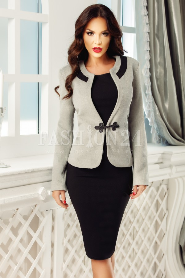 Compleu elegant Evie gri negru