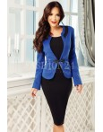Compleu elegant Evie albastru negru