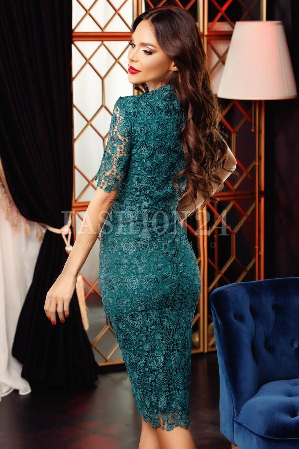 Rochie din dantela Clara verde