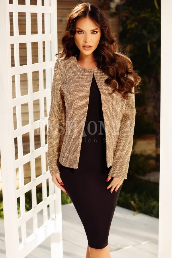 Magazin Online Haine - Compleu Adela maro negru din doua piese -Fashion-4u.Eu