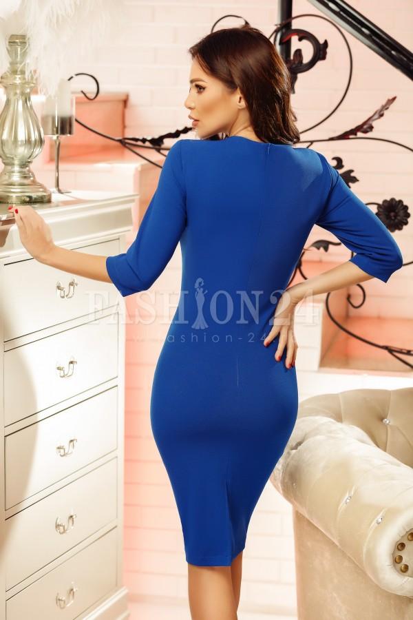 Rochie Selene albastru alb
