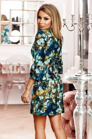 Rochie Maia multicolora cu imprimeuri