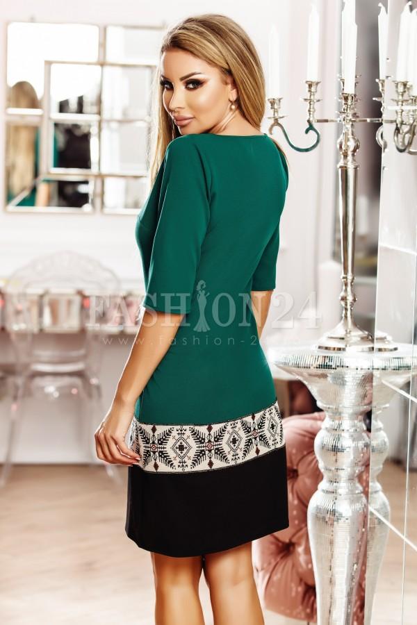 Rochie traditionala Eva verde