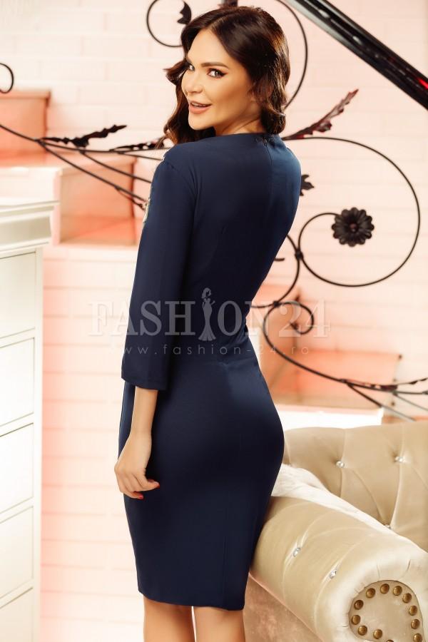 Rochie midi Anisia bleumarin