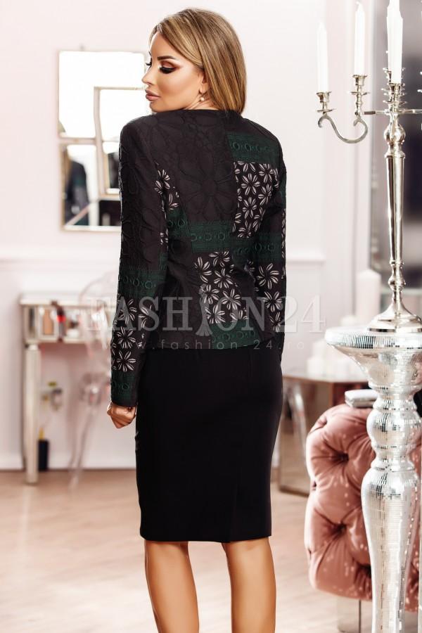 Compleu elegant Alina negru verde