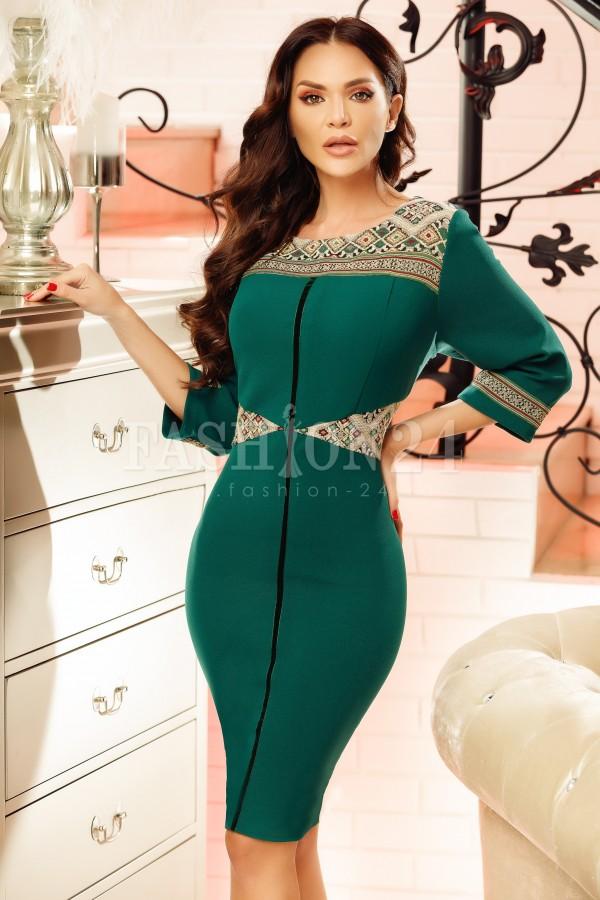 Rochie midi Noelle verde
