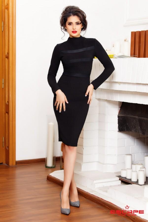 Rochie Midi Bia Neagra