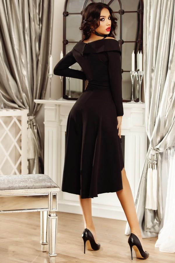 Rochie de seara eleganta cu volanase