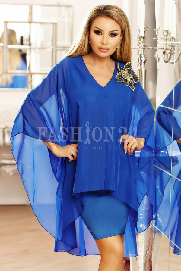 Rochie Anais albastra eleganta