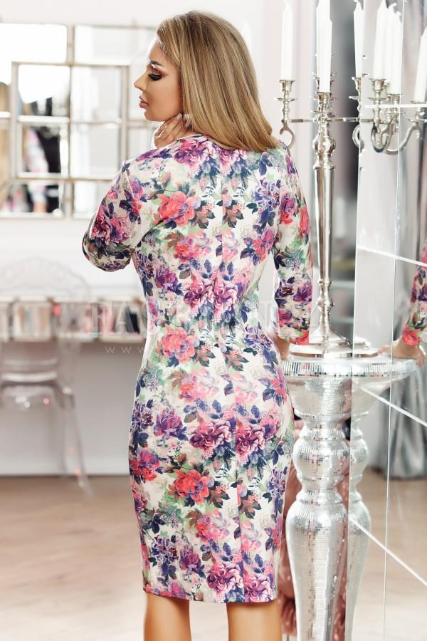 Rochie cu imprimeuri florale