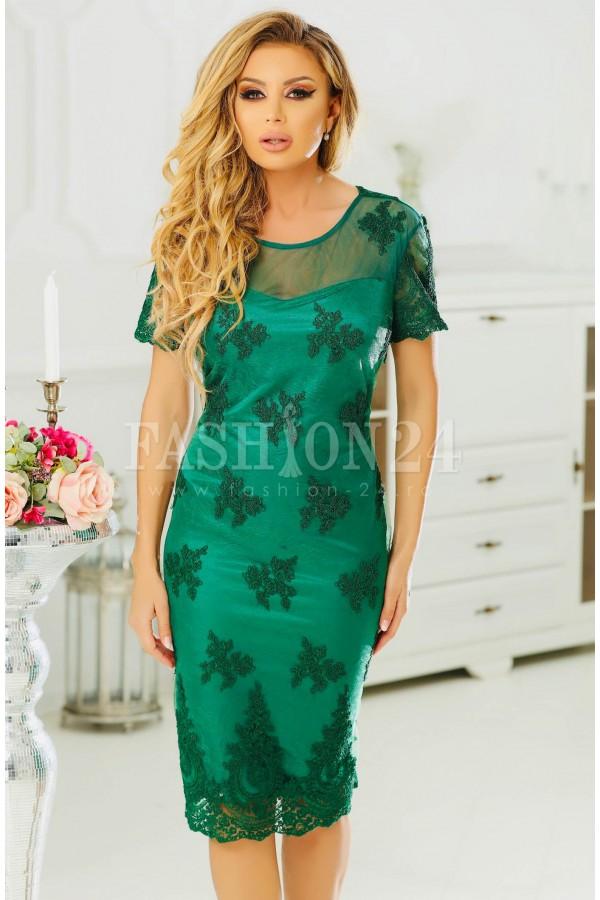 Rochie midi Arissa verde