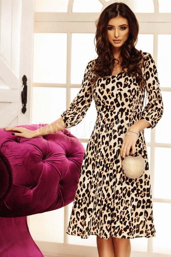 Rochie midi model leopard