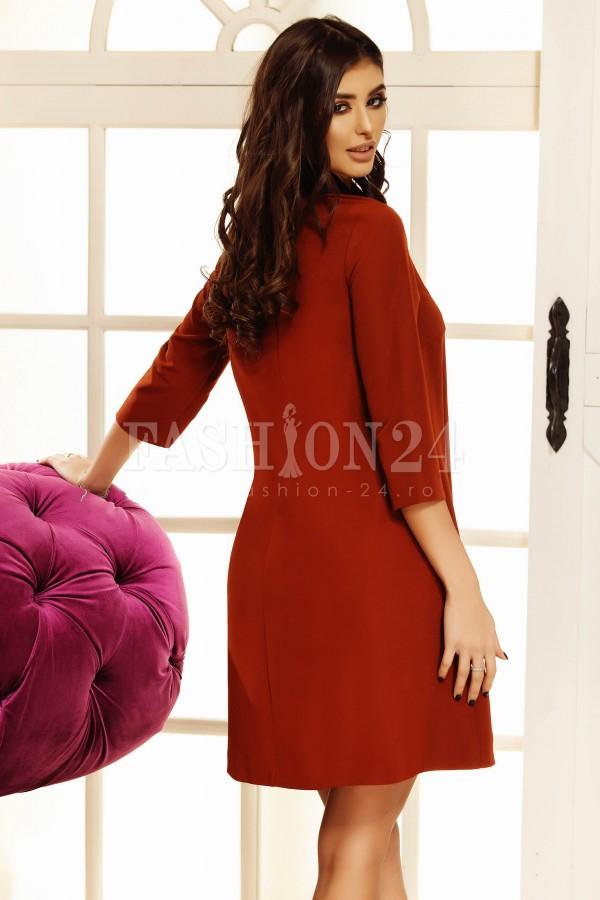 Rochie Maia brun orange