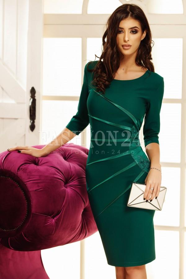 Rochie eleganta Sofia verde