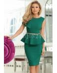 Rochie midi Liana verde cu peplum